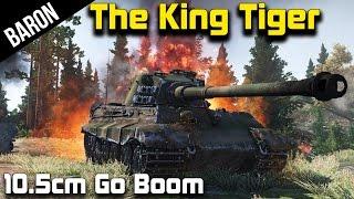 War Thunder - The King Tiger, Tiger II 10.5cm (War Thunder Tanks 1.43 Gameplay)