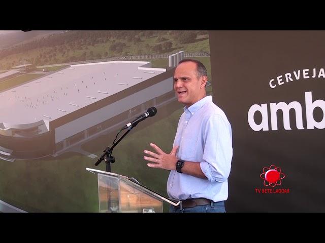 Santiago TV Sete Lagoas - Cobertura Lançamento Pedra Fundamental da Fabrica de Latas da Ambev