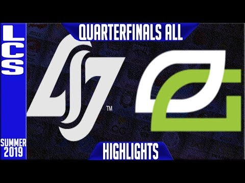 CLG vs OPT Highlights ALL GAMES | LCS Summer 2019 Playoffs Quarterfinals | CLG vs Optic Gaming