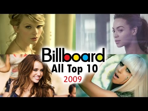 Billboard Hot 100  All Top 10 Singles Which Peaked In 2009