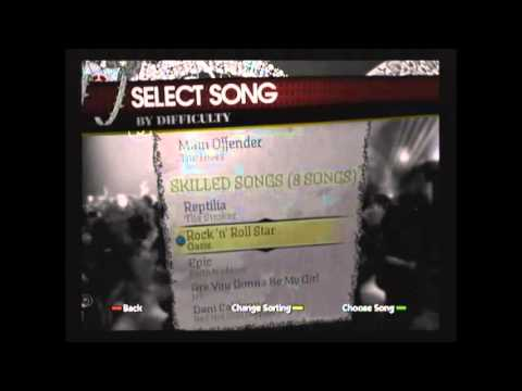Rockband  1 song playlist