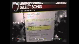 Rockband  1 song playlist