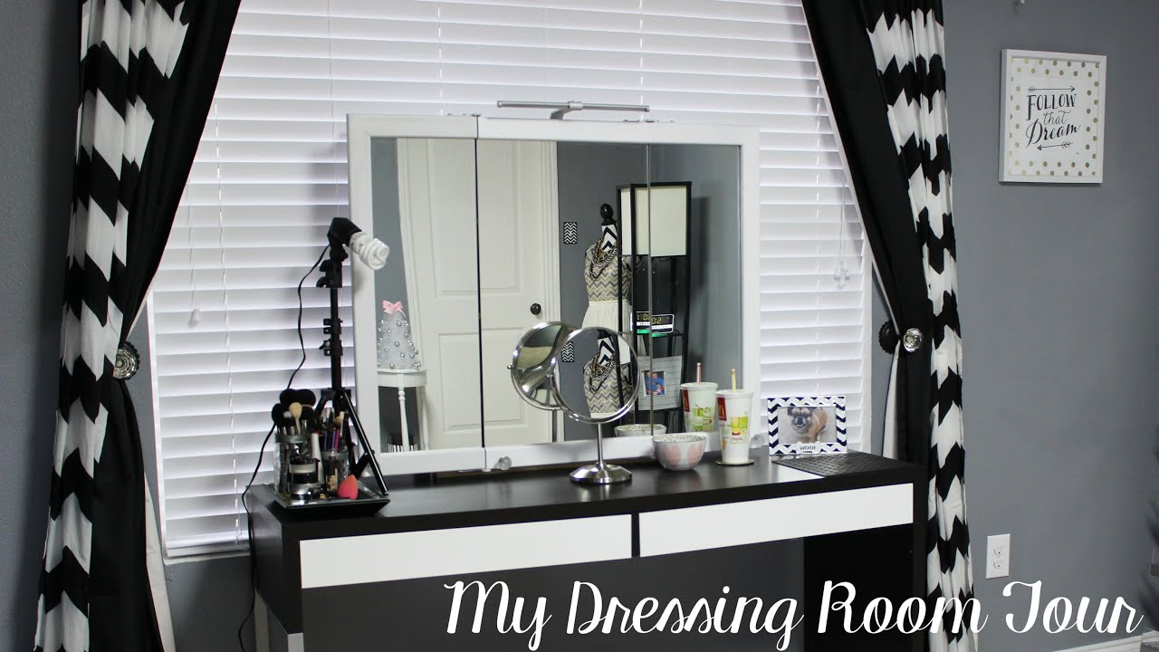 Dressing Room Tour Beauty Room Mini Makeup Collection