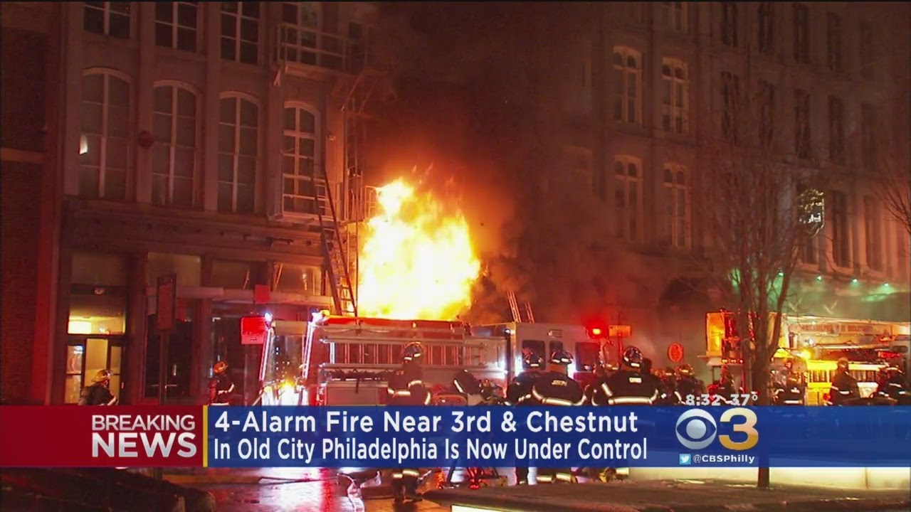 Over 100 Evacuated In 4-Alarm Old City Fire