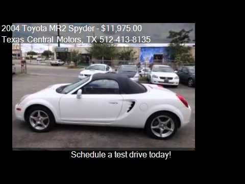2004 toyota mr2 spyder spyder for sale in austin tx