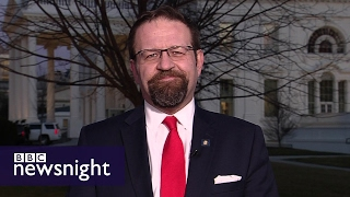 Donald Trump aide Sebastian Gorka accuses BBC of 'fake news'- BBC Newsnight
