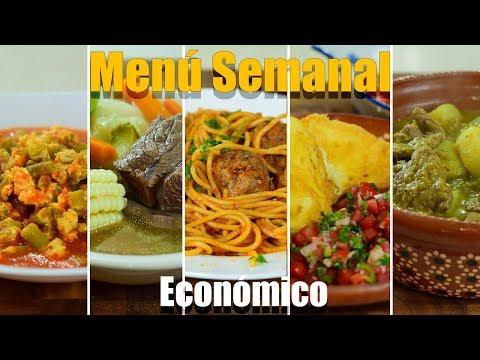 Menu Semanal Económico y Fácil n°2