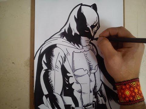 como dibujar a Batman de batman vs superman / how to draw batman vs superman batman