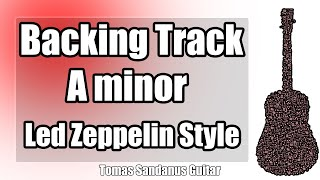 Led Zeppelin Style Backing Track in A minor - Sad Slow Blues Rock Guitar Backtrack - Stairway