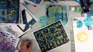 Gelli Printing on Labels for Decorating Cards - Patti Tolley Parrish - Inky Obsessions