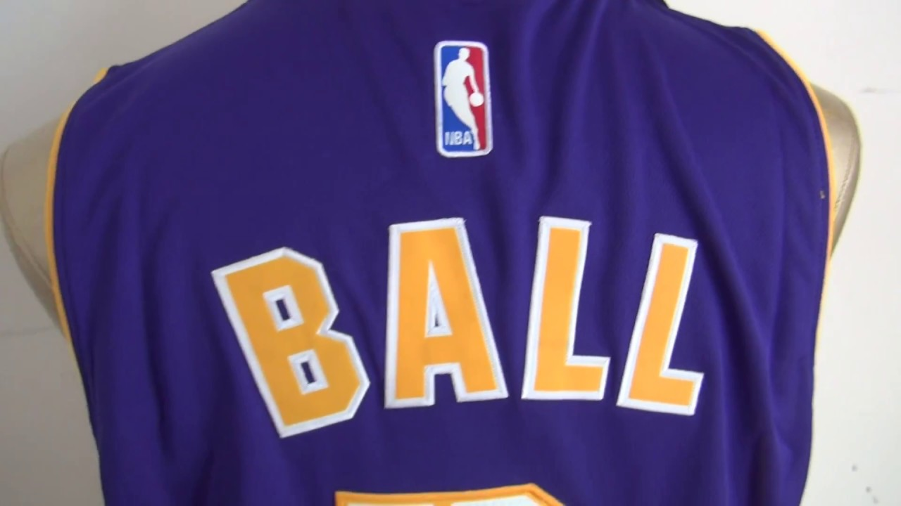 ffd44561e Los Angeles Lakers  2 Lonzo Ball 2017-18 Road Purple New Swingman Jersey  unboxing-jerseys.ru review