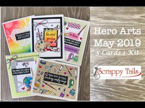 Hero Arts May 2019 Card Kit | 5 Cards 1 Kit