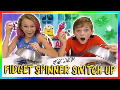 FIDGET SPINNER SWITCH UP CHALLENGE | We Are The Davises