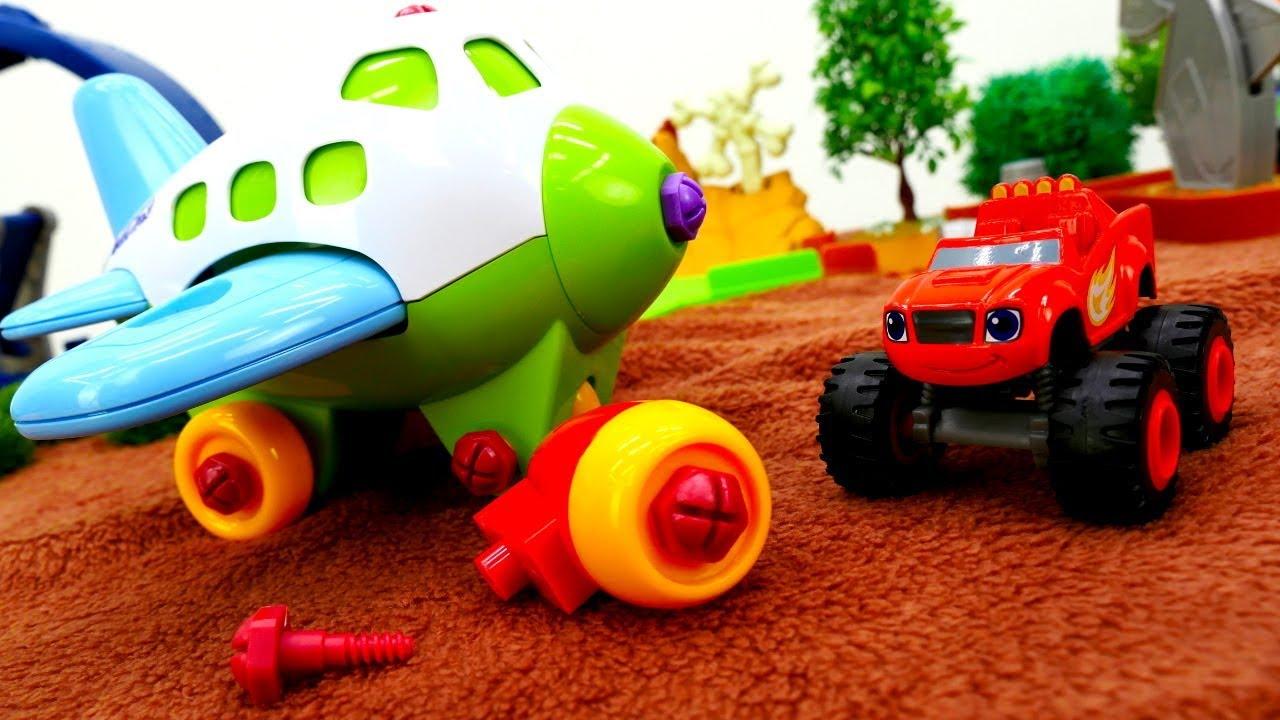 Игры для мальчиков - Вспыш ремонтирует игрушечный самолет ...