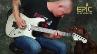 Learn super easy rock guitar song lesson Jailbreak by Thin Lizzy with chords licks riffs