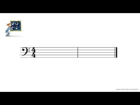Die Notenschule Bassschlüssel