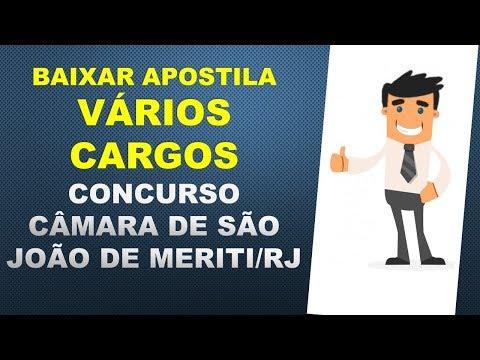 BAIXAR APOSTILAS Concurso Câmara de São João de Meriti - RJ