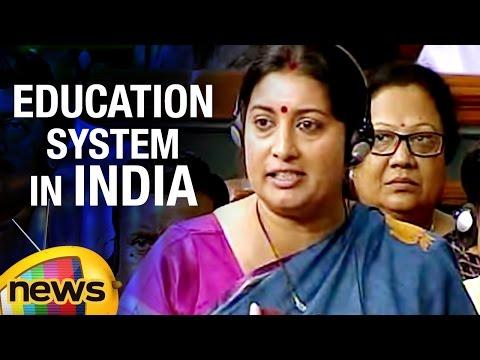 Smriti Irani Speaks About Education System In India   Rajya Sabha   Mango News