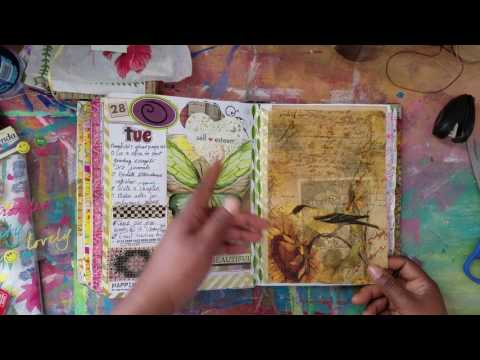 Junk Journal In Use || March Planner Complete Flip & April Planner Set up