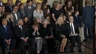 President speaks at arrival ceremony in honor of Billy Graham