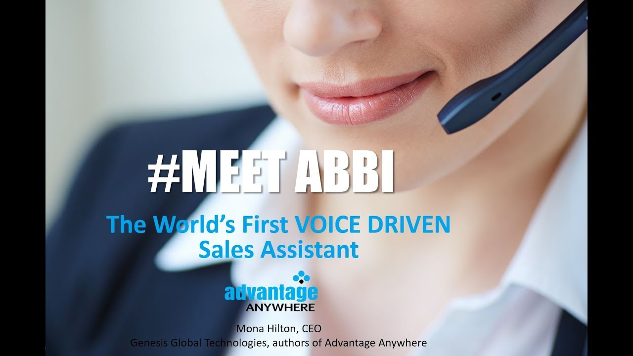 ABBI - Debut of World s first VOICE driven sales assistant, ABBI