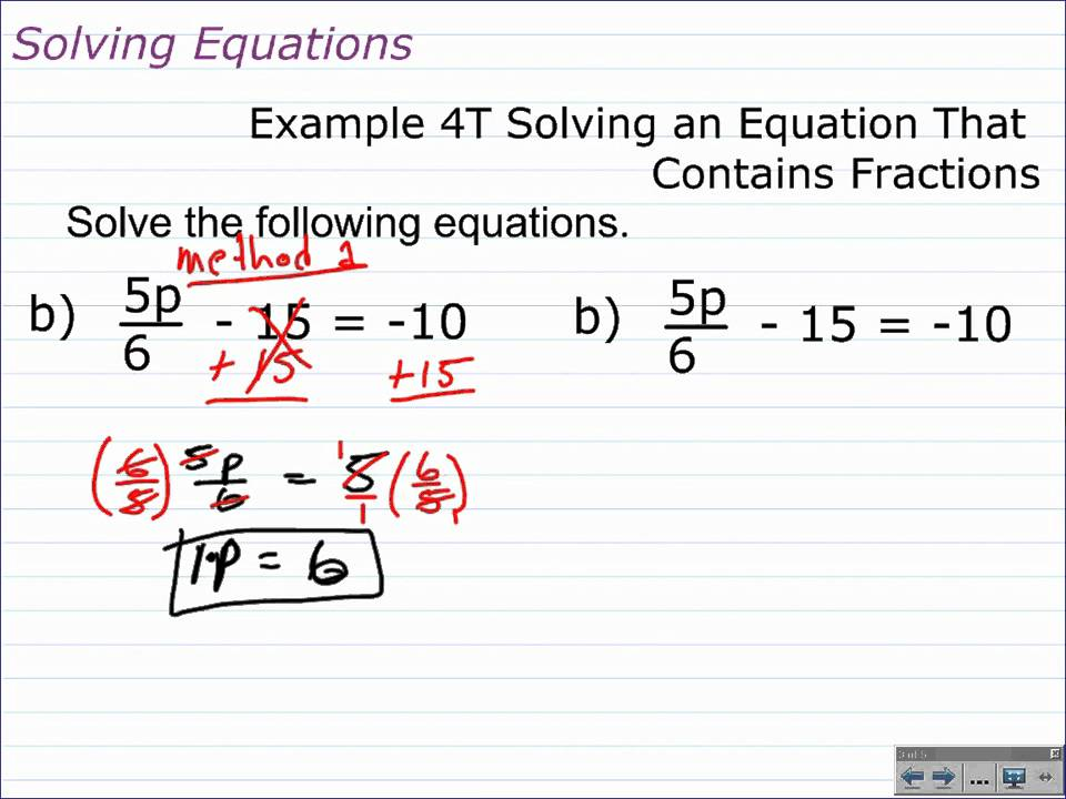 How to Solve MultiStep Equations with Fractions and Decimals – Two Step Algebra Equations Worksheet