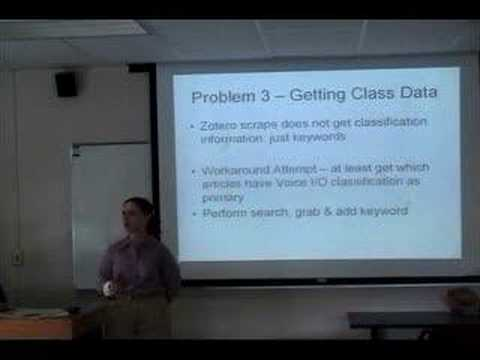 Tessa Sullivan: Technical Challenges in Classification Analy