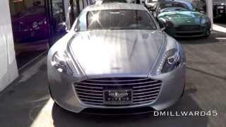 Aston Martin Rapide S loud start up and drive off