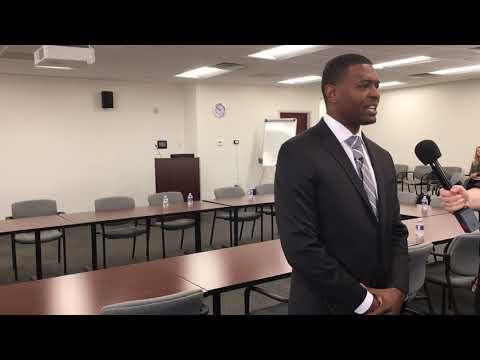 In Wilmington, DEQ Secretary Michael Regan discusses offshore drilling