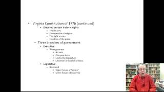 Constitutional History Lecture 10: State Constitutions