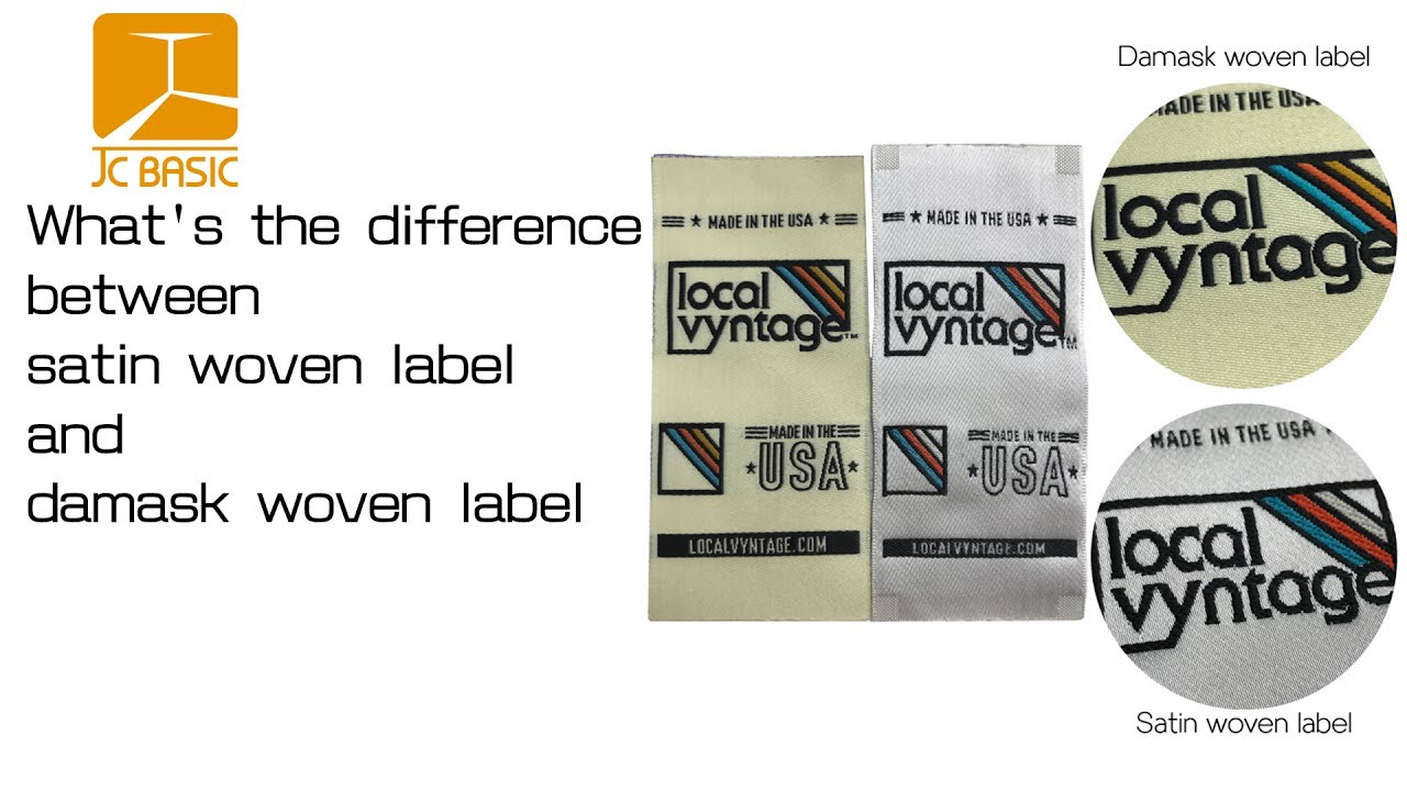 what\u0027s the difference between satin woven label and damask woven label?