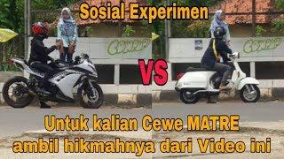 Download Video Ninja VS Vespa dan Ternyata Cewe ini Memilih ?? | Sosial Experimen MP3 3GP MP4