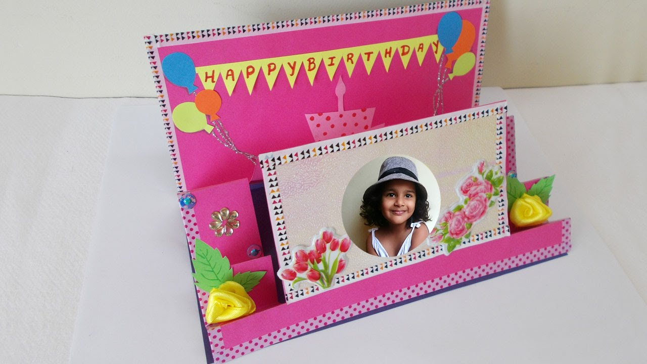 Birthday Greeting Card Making Ideas Part - 38: Handmade Gift Ideas : How To Make DIY Pop Up Birthday Greeting Card |  Mothers Day Cards - YouTube