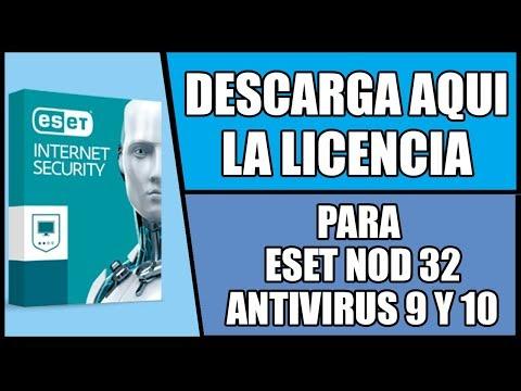 Licencia para ESET NOD 32 ANTIVIRUS 9, 10 Y 11 | Para 32 y 64 bits