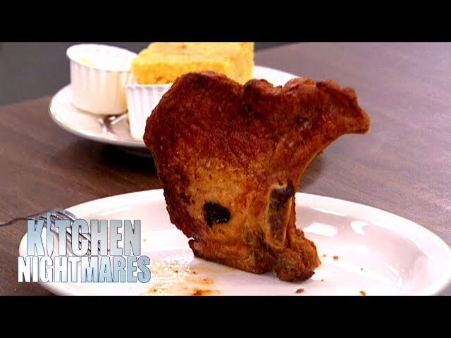 Gordon Ramsay's Pork Chop Looks Like A Map Of The USA | Kitchen Nightmares