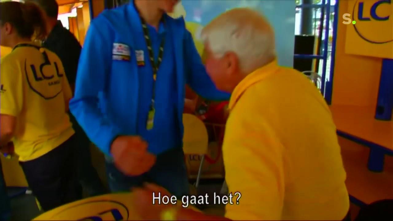 M. van Der Poel, petit-fils de Poulidor, au départ du Tour de France 2021