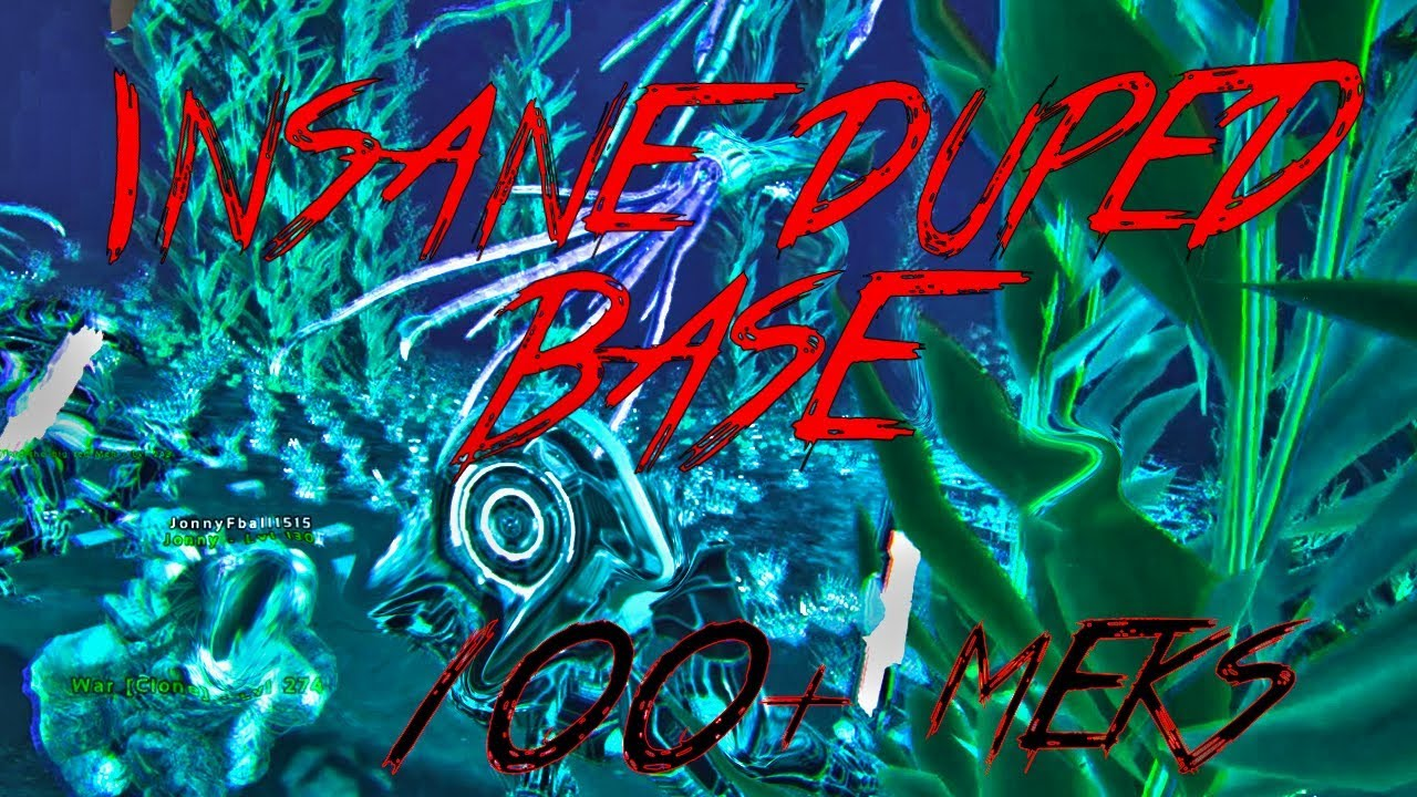 Ark:Small Tribes PVP | WIPING CRAZY UNDERWATER DUPED BASE  200+ MEKS