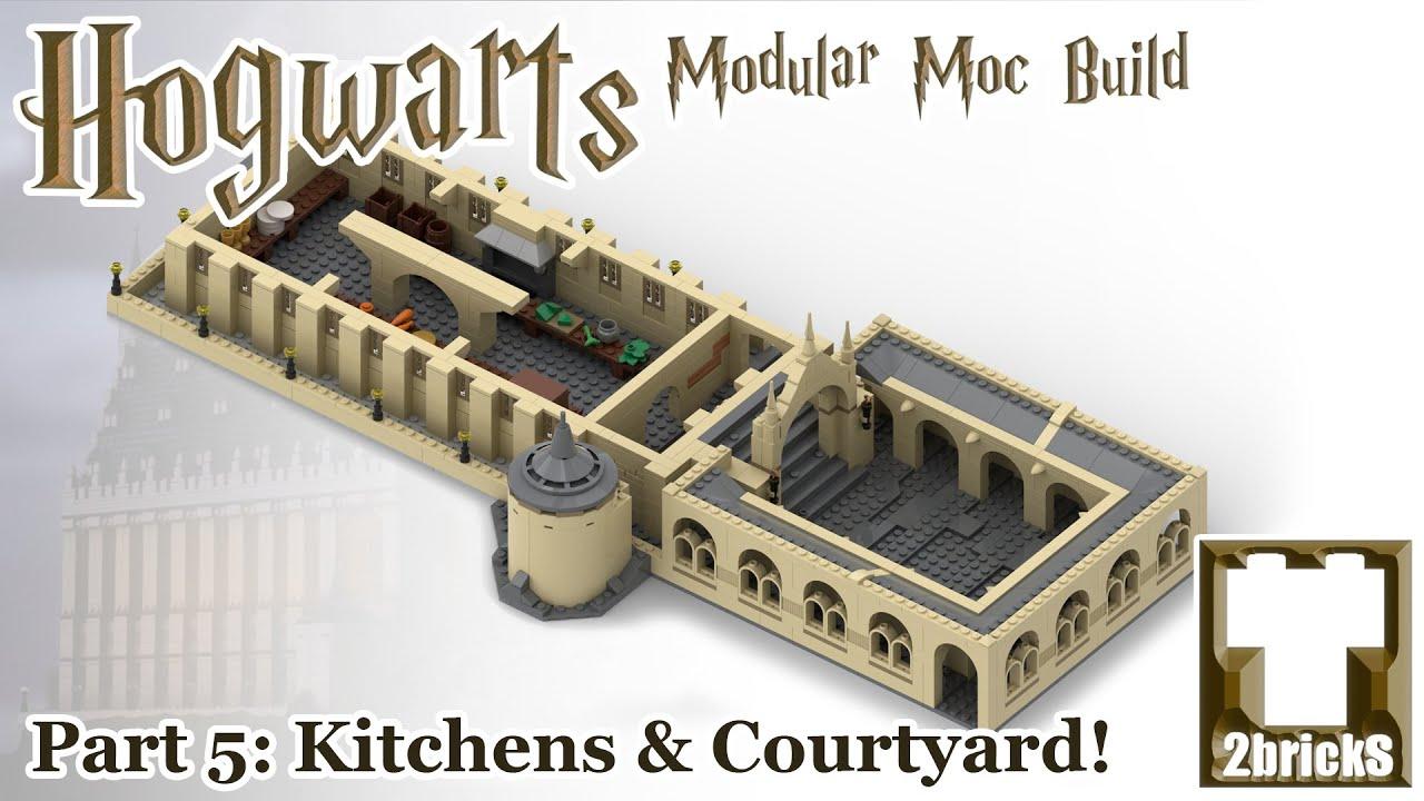 Download The Great Hall Kitchens & Courtyard! - Hogwarts Modular Lego MOC Series Episode 5!