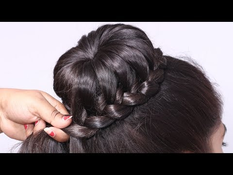 bun-hairstyle-for-modern-girls-for-party/wedding/functions-||-bridal-hairstyles-for-relatives