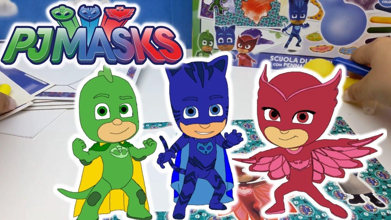 Pj masks colour spray scuola di disegno giochi creativi for Immagini super pigiamini da stampare