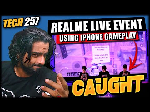 Realme Caught Using iPhone Gameplay in Live Launch Event || Tech 257