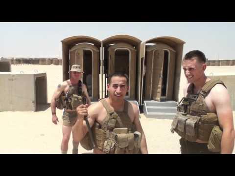 Classy Marine Corps Ball invite from Kuwait