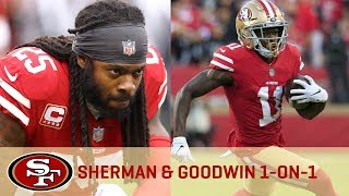 Marquise Goodwin Breaks Down his Training Camp Battle with Richard Sherman