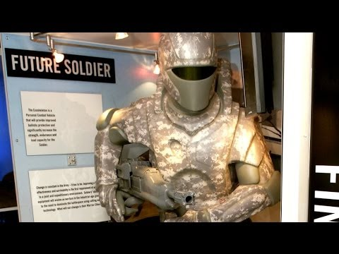 The 'Iron Man' armor suit gives soldiers gives soldiers super-human strength