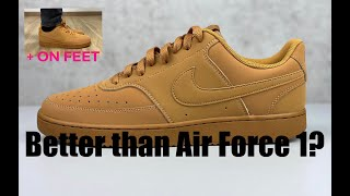 Nike Vision Court Low 'brown' ONLY 70€ | UNBOXING & ON FEET | fashion sneaker | 2020