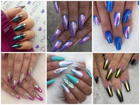 Chrome Nails Design Ideas Latest Nail Art Trend 2019 Youtube