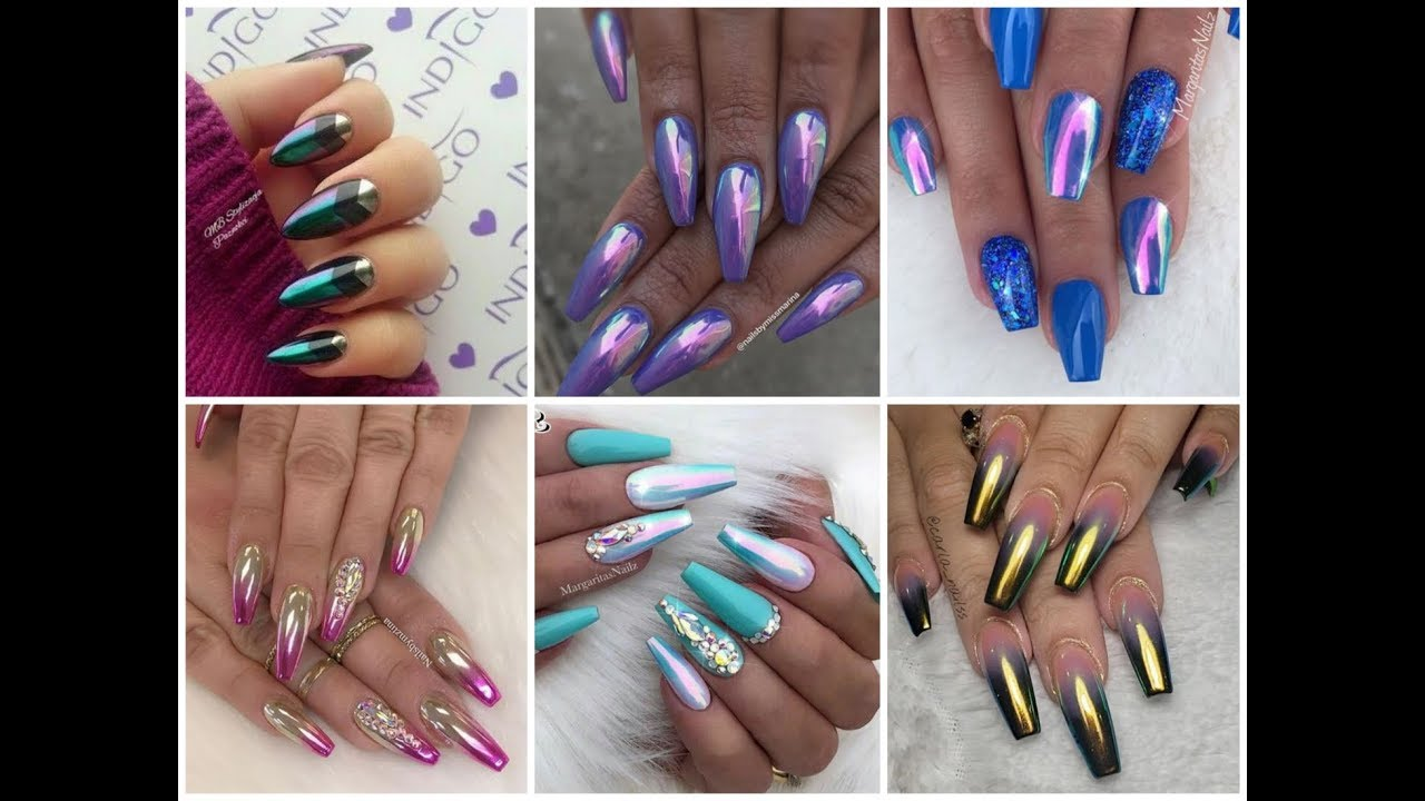 chrome nails design ideas - latest