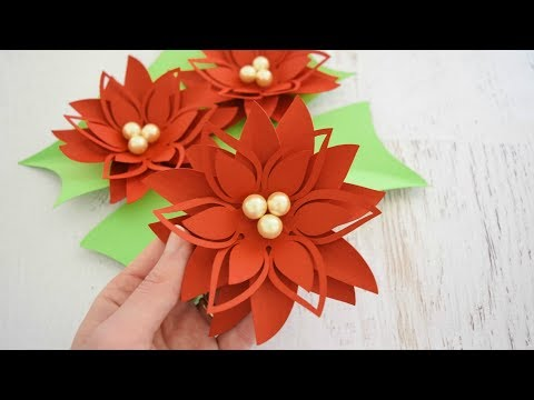 DIY Christmas Poinsettia Paper Flower Tutorial - Holly Style