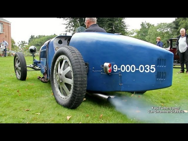 Bugatti Type 35 B - Very loud start up!! 1 of 45 ever build!! 1080p HD