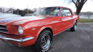 1965 ford mustang coupe red for sale at www coyoteclassics com